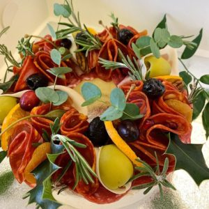 Christmas cheese wreath Jersey Kitchen at Home