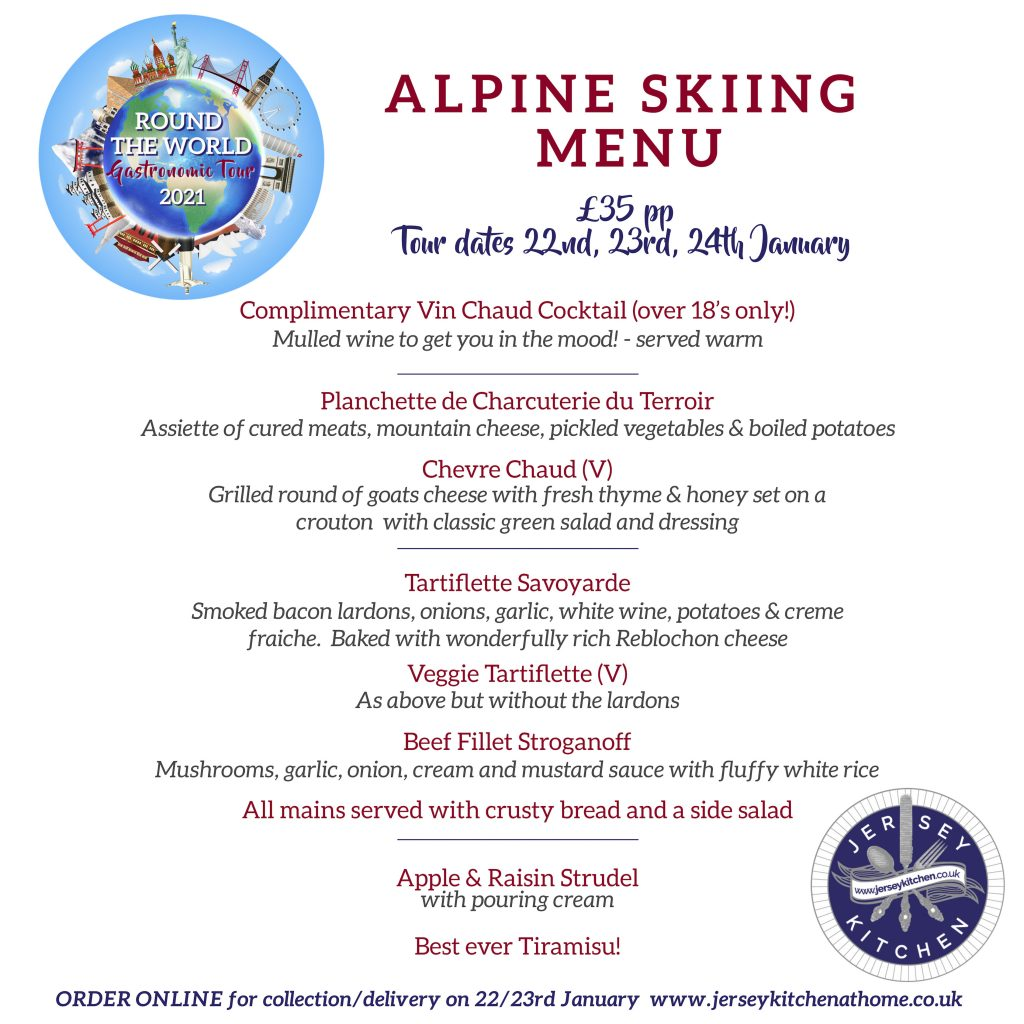Alpine menu Jersey Kitchen