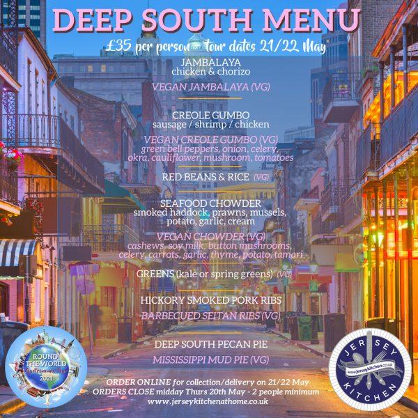 Jersey Kitchen Deep South menu